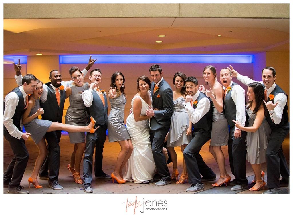 Bridal party at Magnolia Hotel Denver
