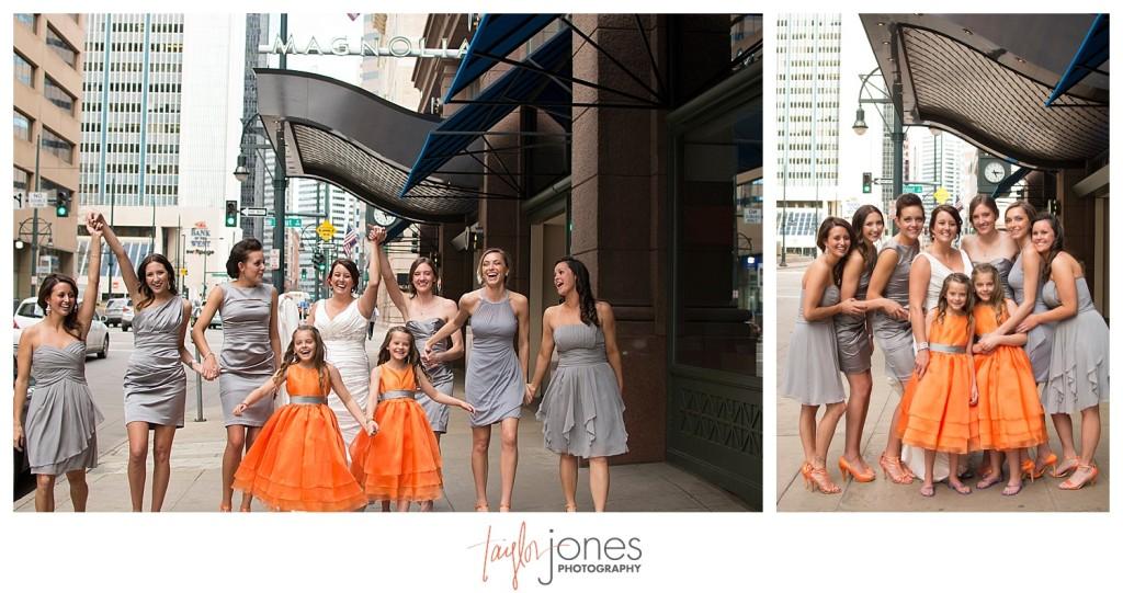 Bridesmaids in downtown Denver wedding