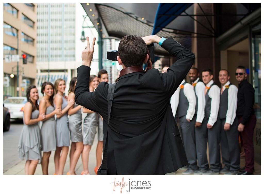 Photographer at Denver wedding