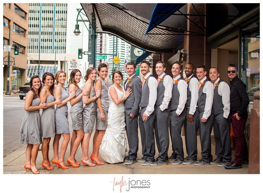 Bridal party at Denver wedding