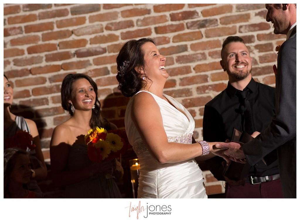 Bride at Mile high station wedding denver colorado