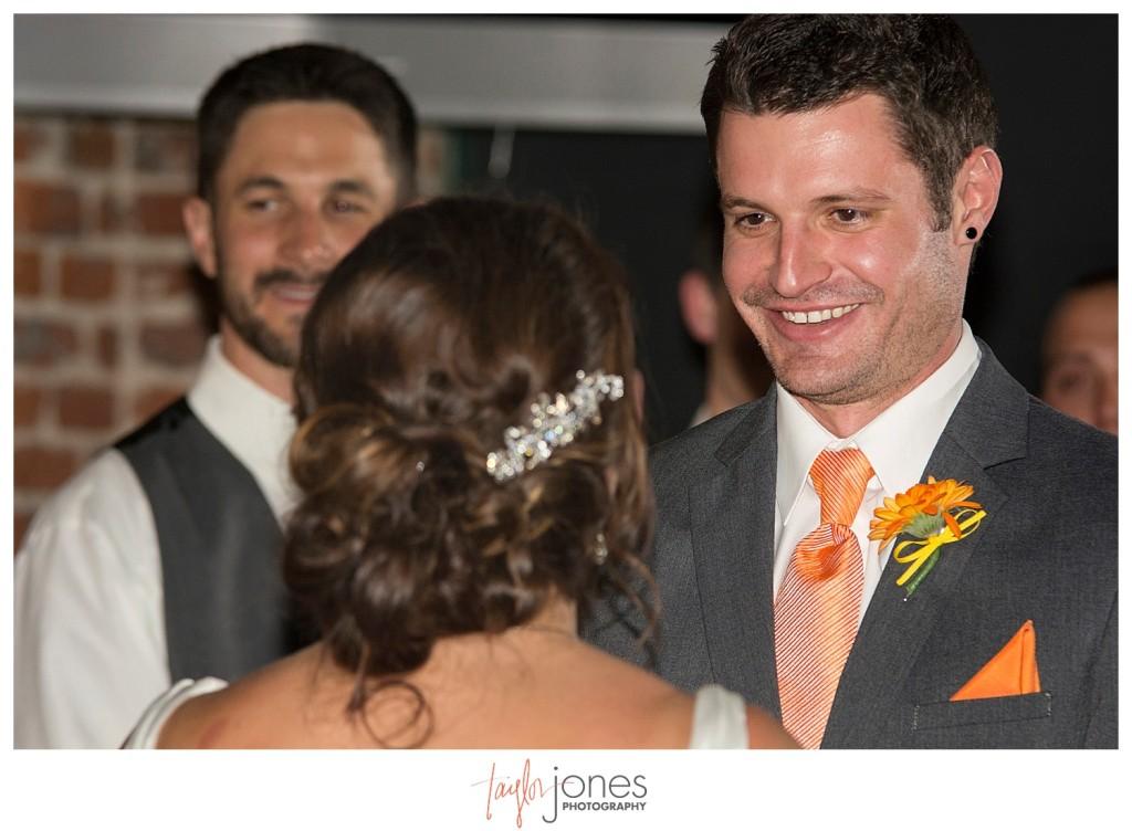 Groom at Mile high station wedding denver colorado