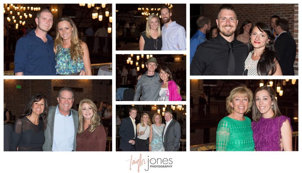 Guests at Mile high station wedding denver colorado