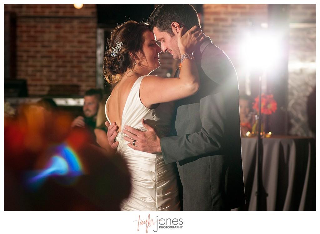 First dance at Mile high station wedding denver colorado
