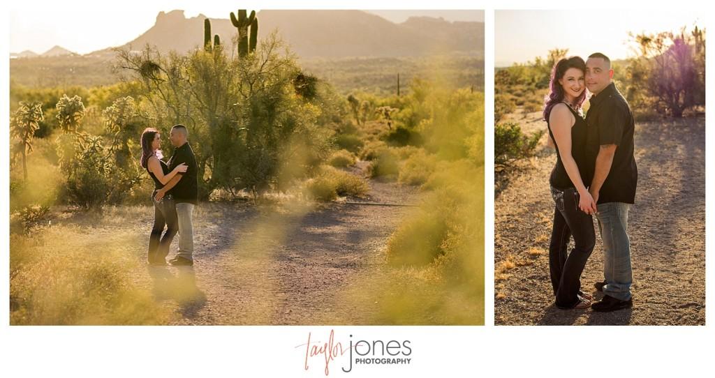Couple engagement shoot outside of Phoenix Arizona
