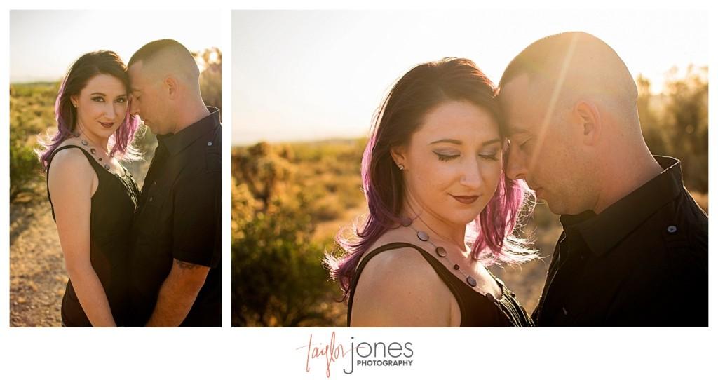 Arizona couple at engagement shoot
