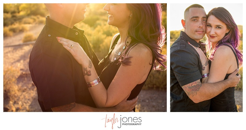 Couple at engagement shoot at Lost Dutchman State Park Phoenix Arizona