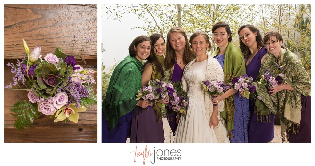 Bridesmaids at Pines at Genesee wedding