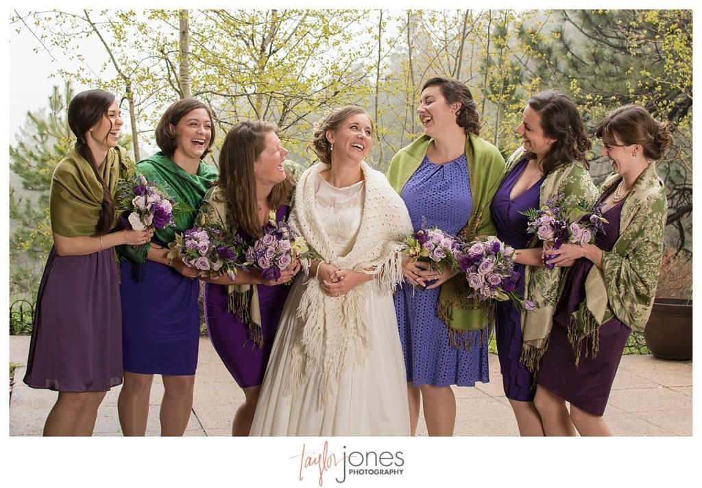 Bridesmaids at Pines at Genesee wedding