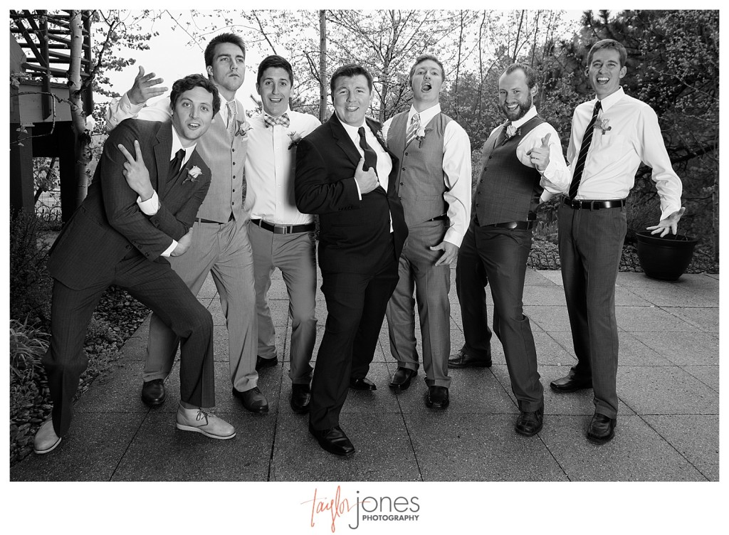Groomsmen at Pines at Genesee wedding