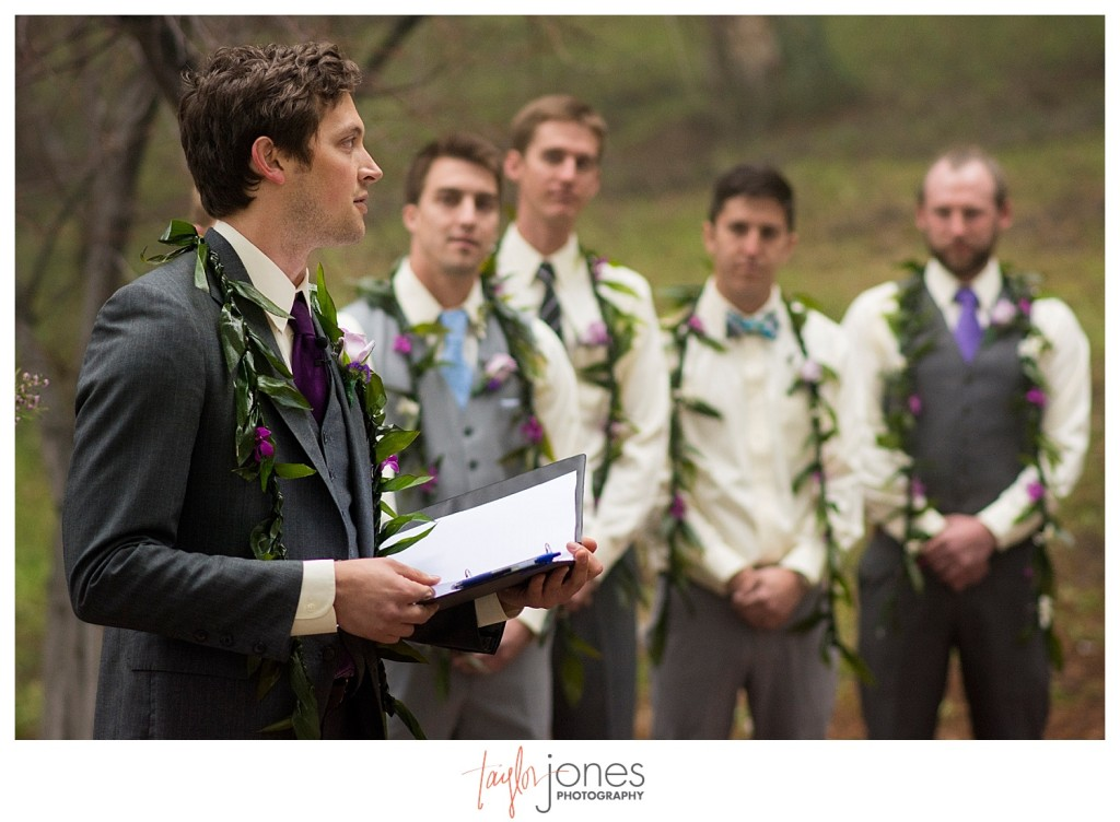 Best man at Pines at Genesee wedding