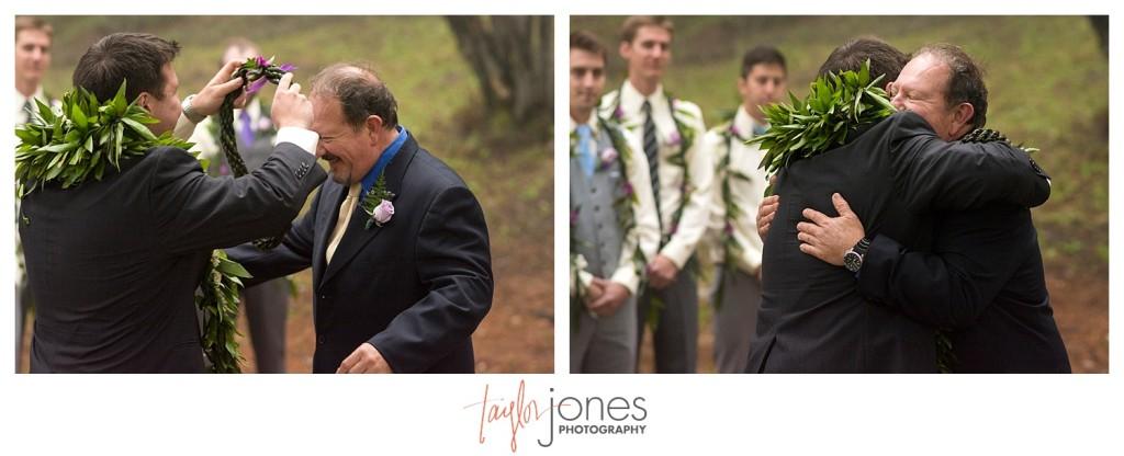 Hawaiian ceremony at Pines at Genesee wedding