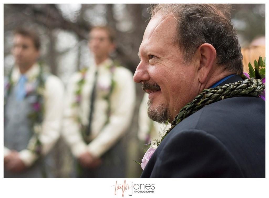 Father of the groom at Pines at Genesee wedding