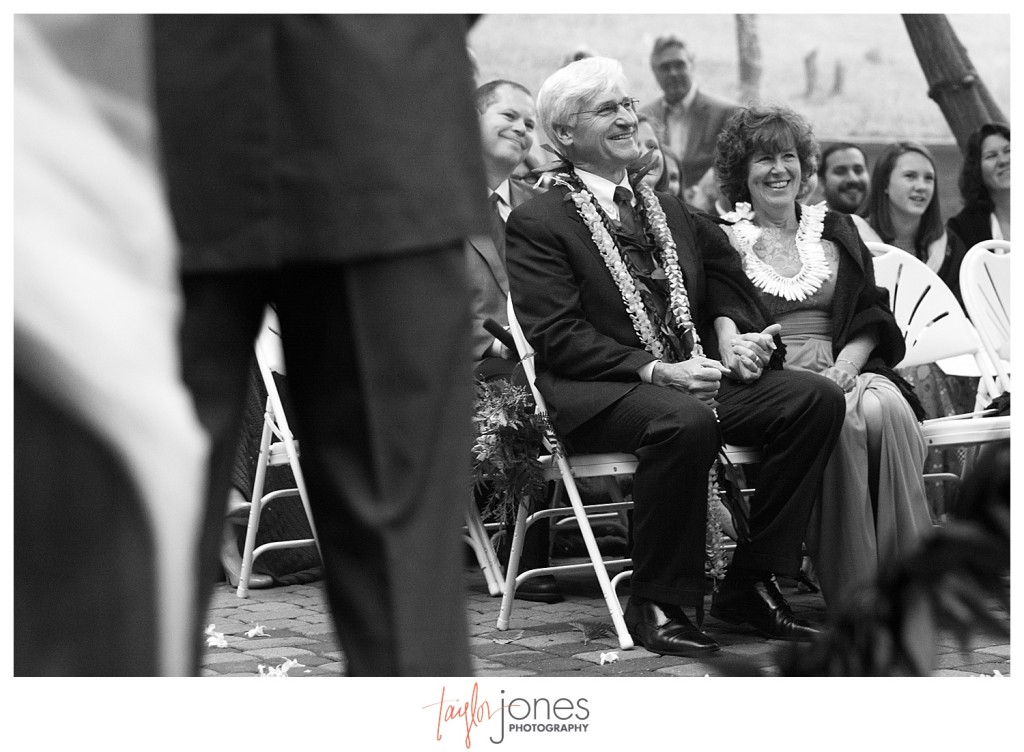 Mother and father of the bride at Pines at Genesee wedding ceremony