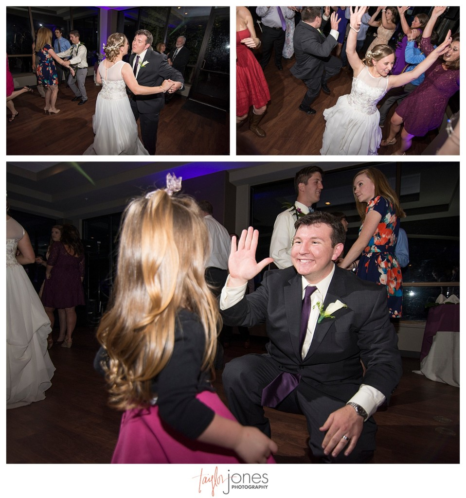 Dancing at Reception at Pines at Genesee wedding