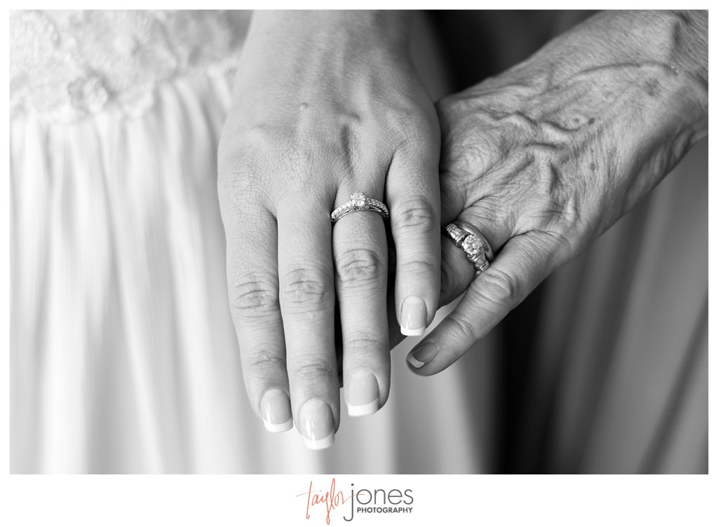 Bride and mother's hands