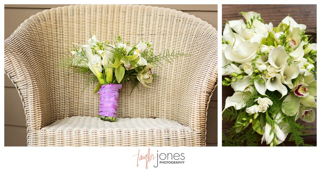 Bridal flowers at Pines at Genesee wedding