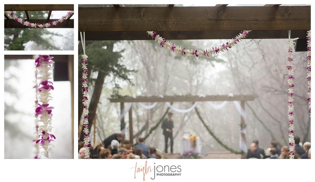 Pines at Genesee Hawaiian wedding ceremony