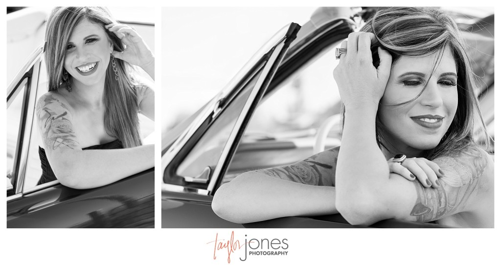Mustang and tattoo'd styled photo shoot at Standley Lake Colorado