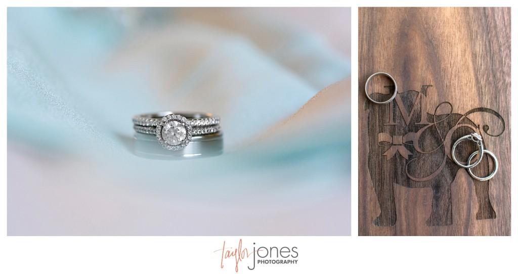 Ring shot for Pines at Genesee wedding 105mm Nikon lens