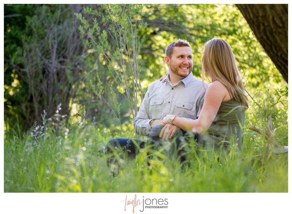 Engagement shoot at Lair O the Bear with couple