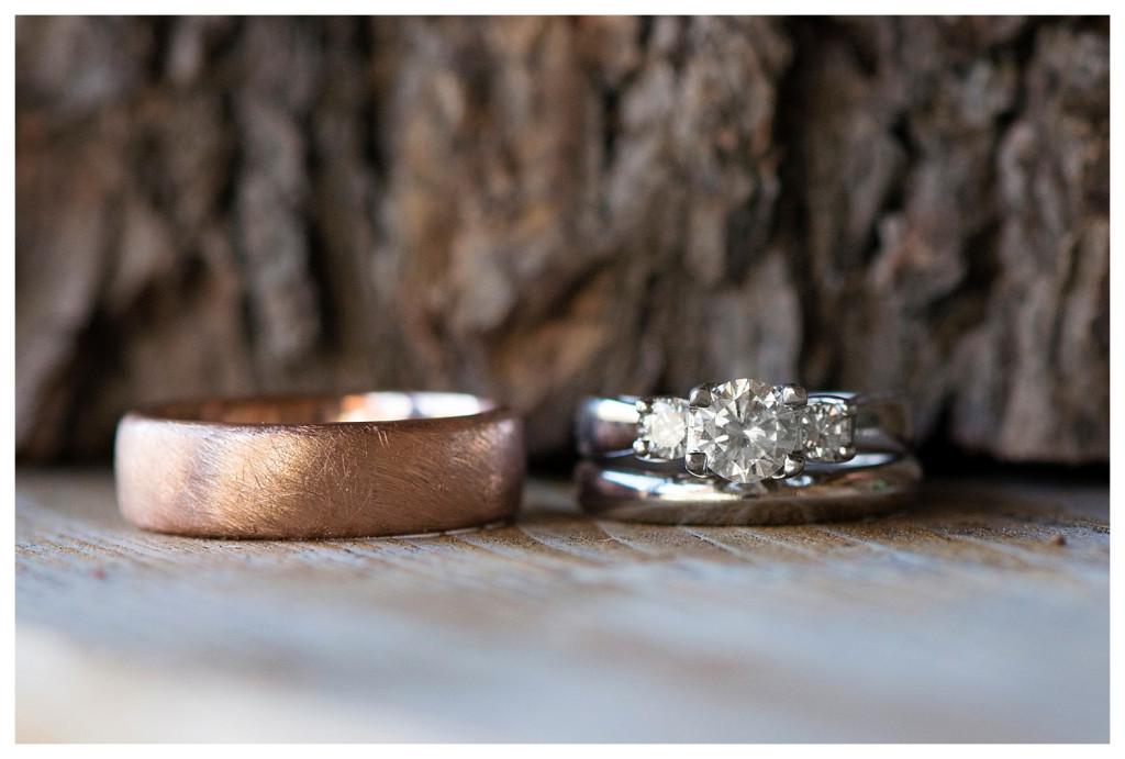 Rings at Estes Park wedding at YMCA of the Rockies