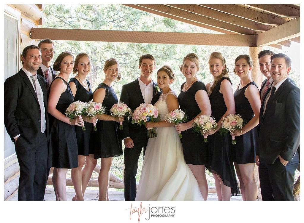 Bridal party at Estes Park Colorado