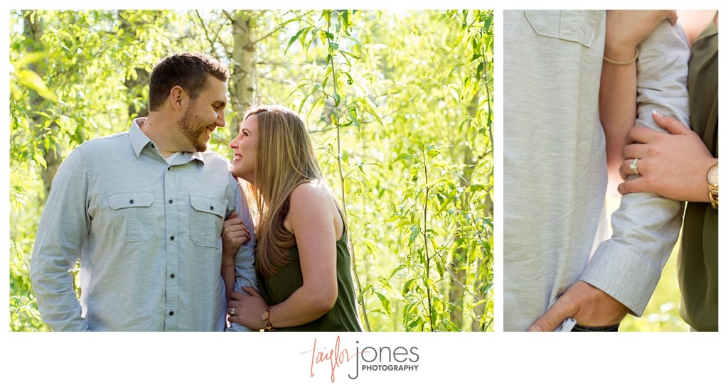 Colorado engagement shoot at Lair O the Bear couple detail photos