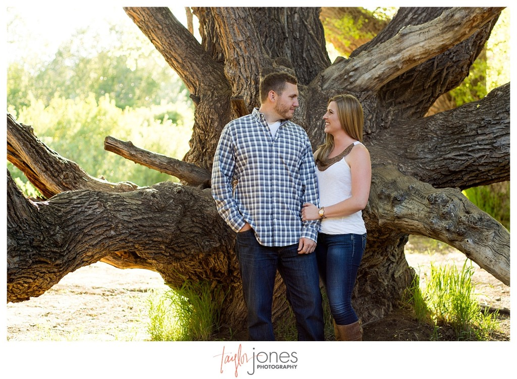 Colorado engagement shoot at Lair O the Bear couple in the trees