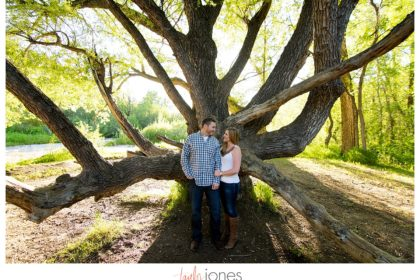 Colorado engagement shoot at Lair O the Bear with a tree