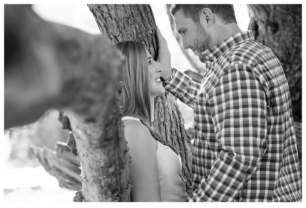 Colorado engagement shoot at Lair O the Bear couple in tree
