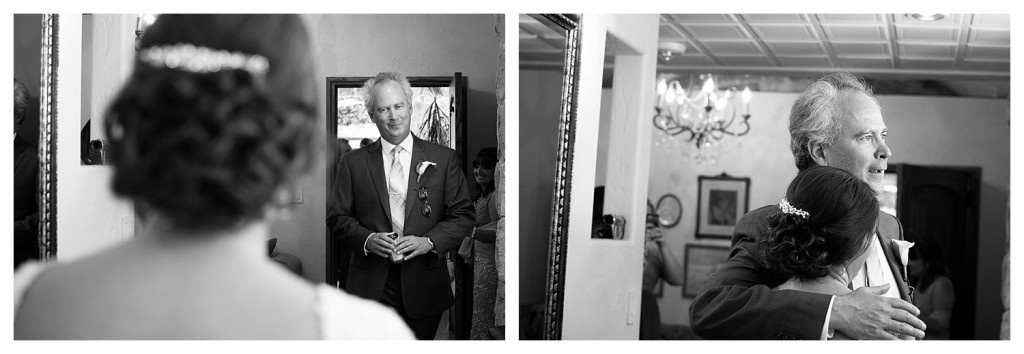 Father of the bride at Baldoria on the water wedding Denver Colorado