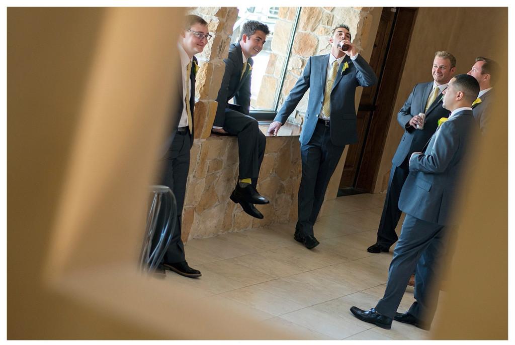 Groomsmen at Baldoria on the water wedding Denver Colorado
