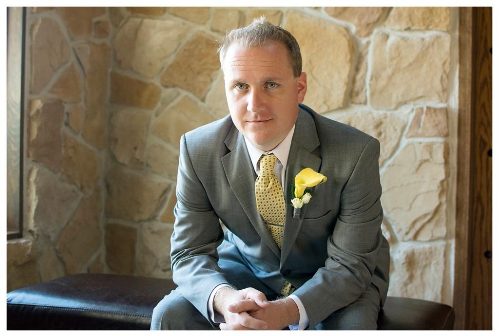 Groom at Baldoria on the water wedding Denver Colorado