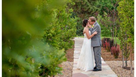 Bride and groom portraits at Reception at Baldoria on the water wedding Denver Colorado