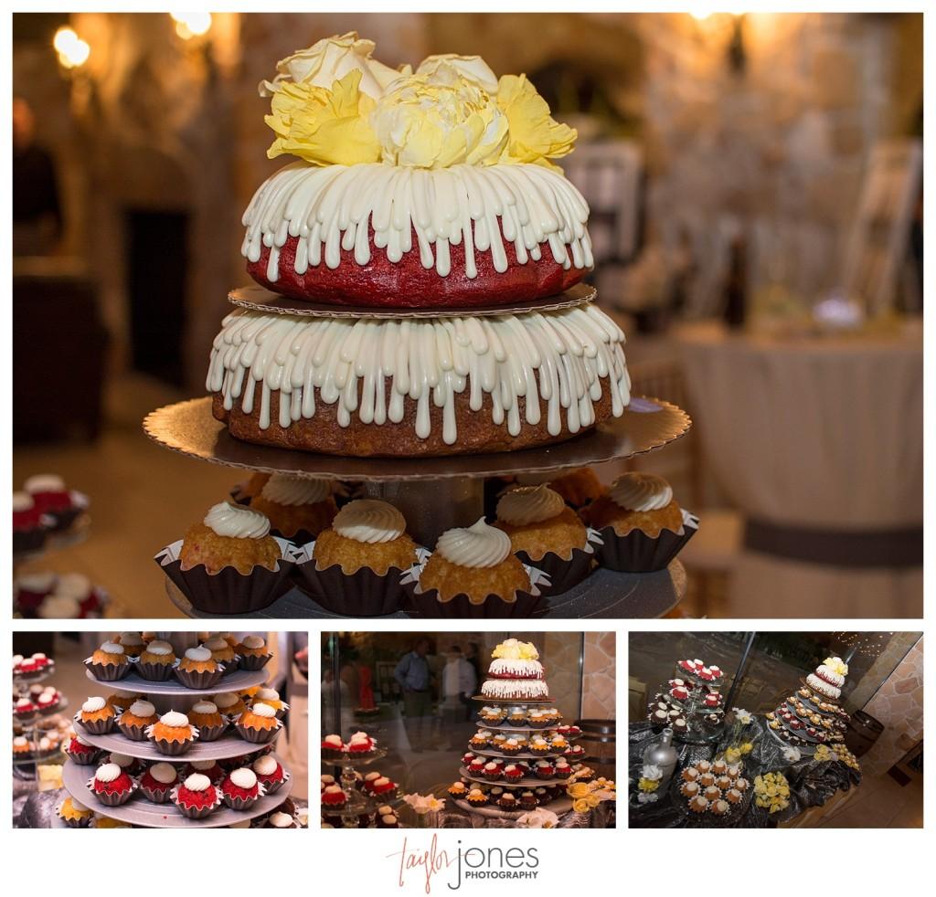 Reception at Baldoria on the water wedding Denver Colorado Nothing Bundt Cakes