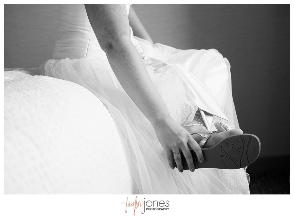 Bride getting ready in Golden Colorado for wedding