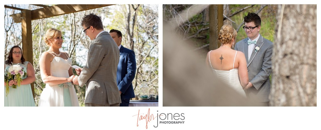 Ceremony at Pines at Genesee wedding for Cortney and Matt