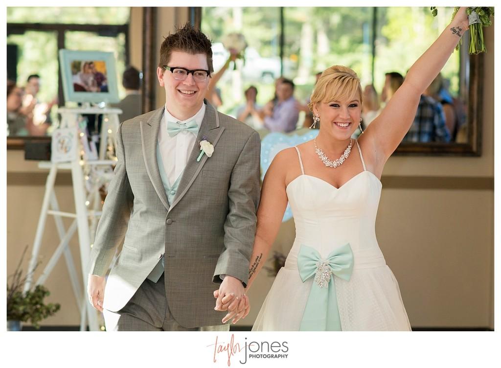 Reception at Pines at Genesee spring wedding