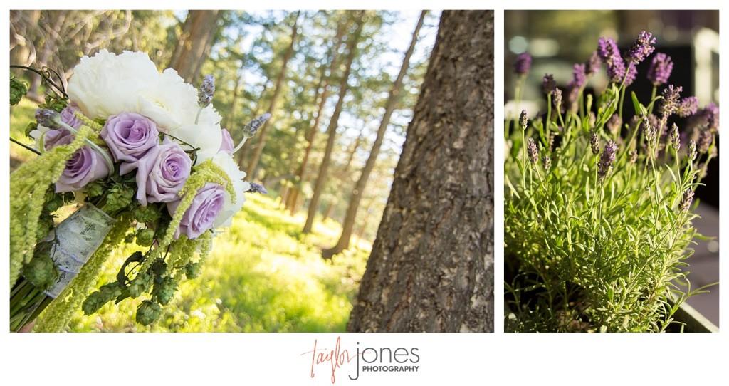 Pines at Genesee spring wedding reception, lavender