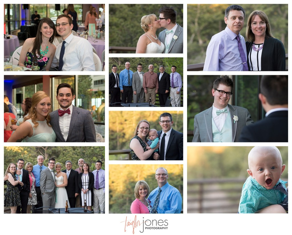 Guests at Pines at Genesee spring wedding reception