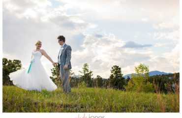 Bride and groom portraits at Pines at Genesee spring wedding reception