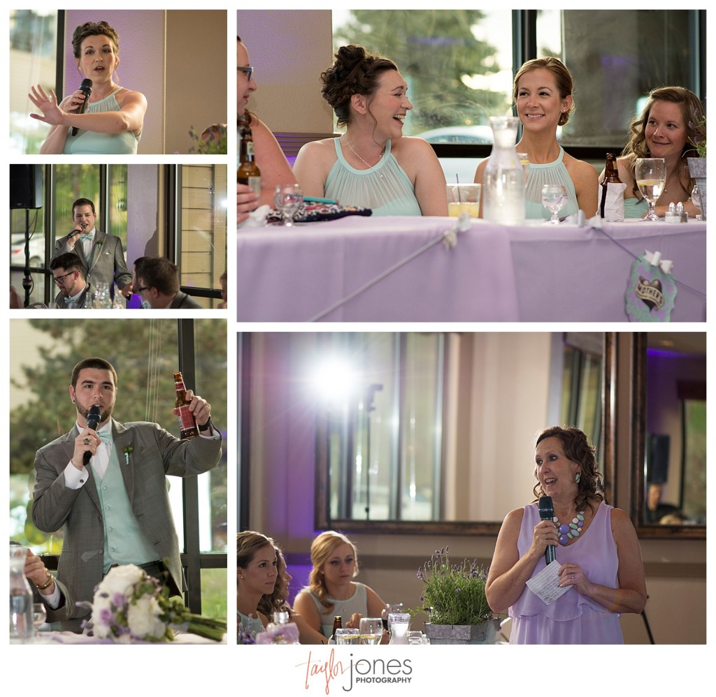Speeches at Pines at Genesee wedding reception
