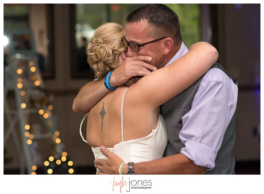 Father daughter dance at Pines at Genesee wedding reception
