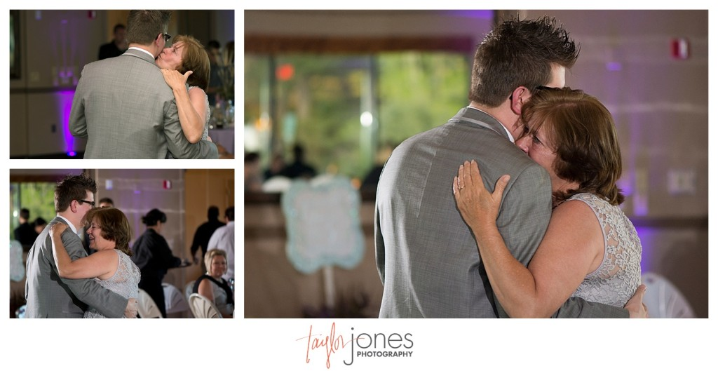 Mother son dance at Pines at Genesee wedding reception