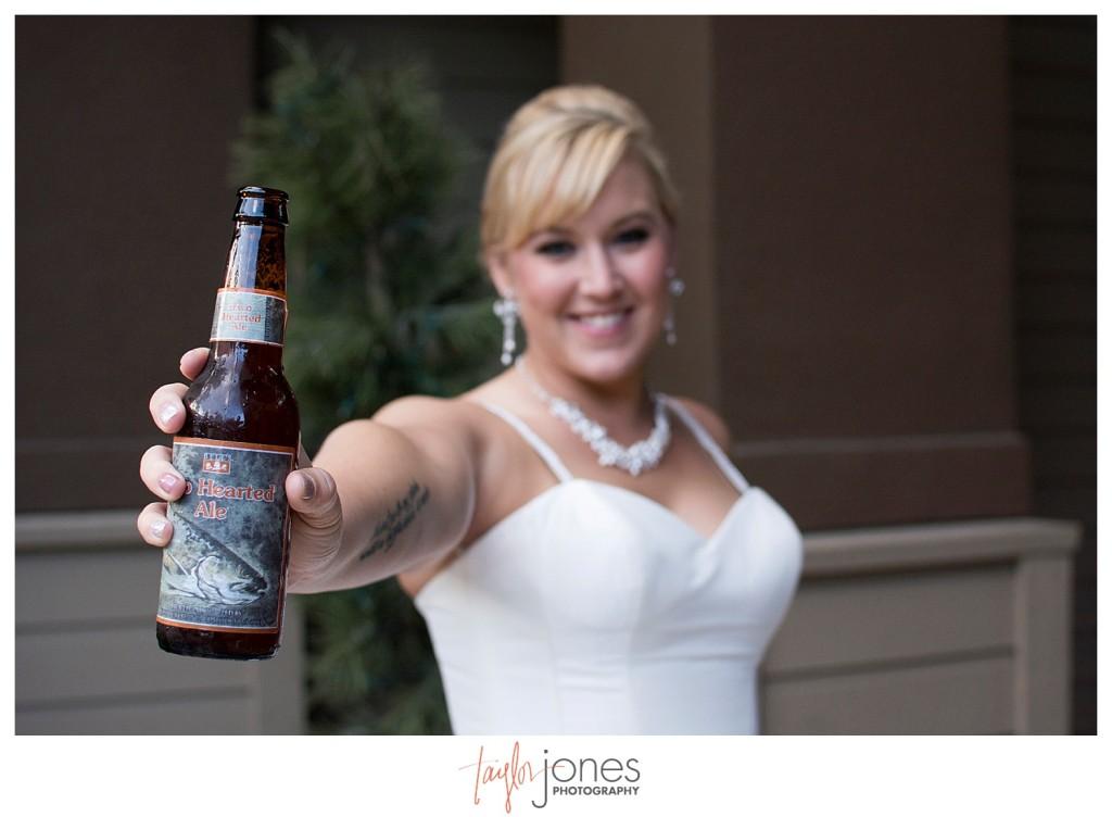 Bride at Pines at Genesee wedding reception