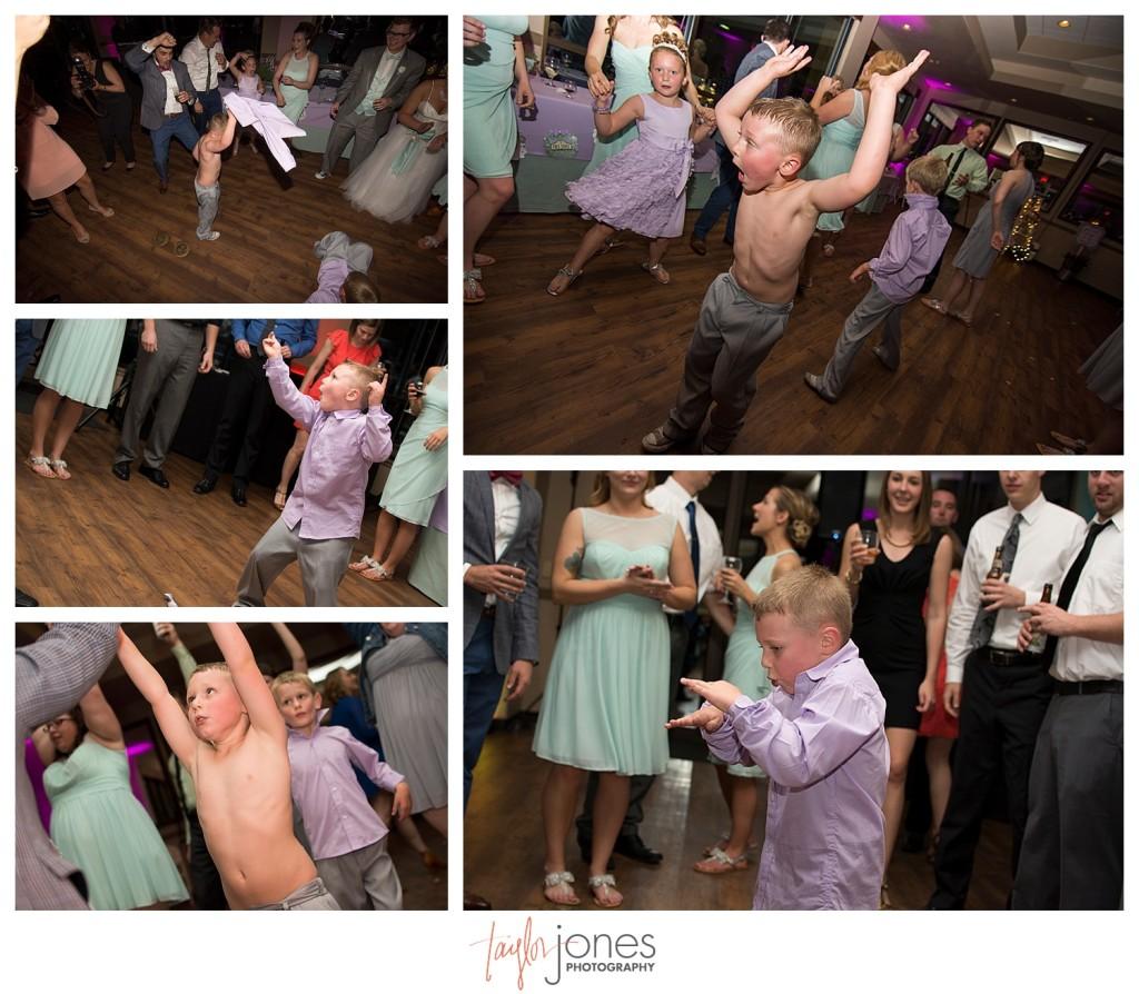 Guests dancing at Pines at Genesee wedding reception
