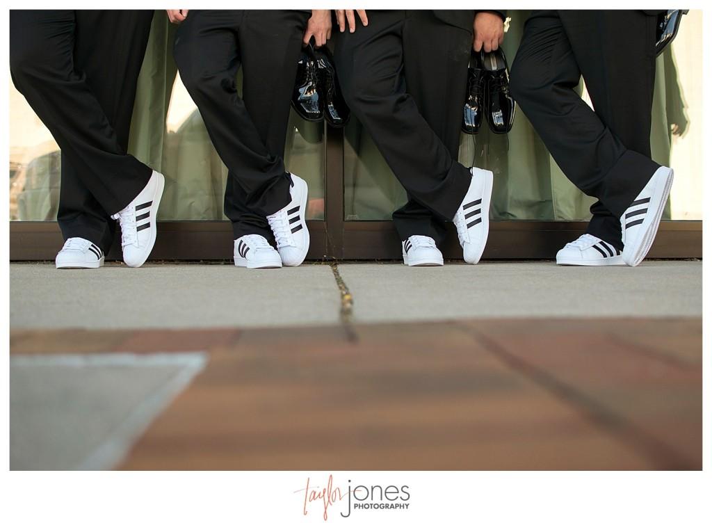 Groomsmen at Golden hotel wedding in Golden, Colorado