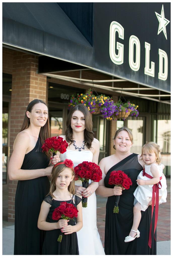 Bridesmaids at Golden Hotel wedding Golden Colorado