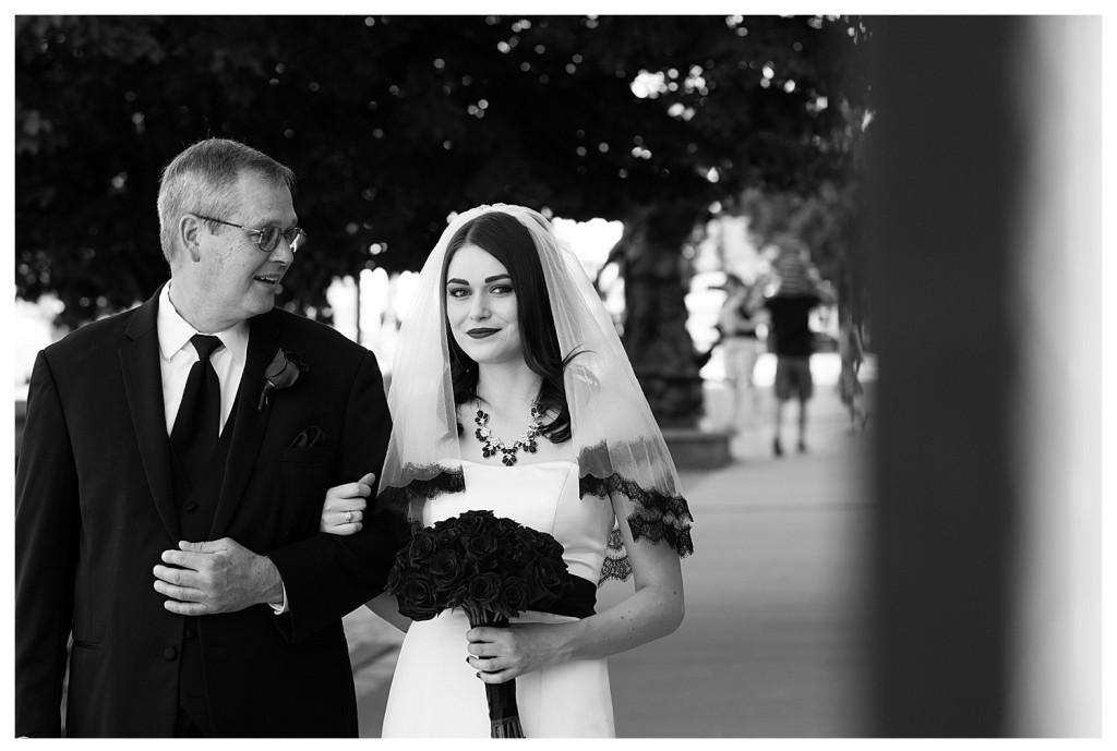 Father and bride at Golden Hotel wedding Golden Colorado